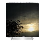 002 When Feeling Down  Pick Your Head Up To The Skies Series Shower Curtain