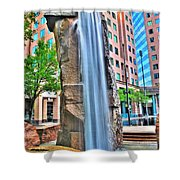 003 Fountain Plaza  Shower Curtain