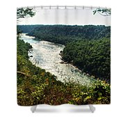 003 Niagara Gorge Trail Series  Shower Curtain