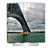 003 Stormy Skies Peace Bridge Series Shower Curtain