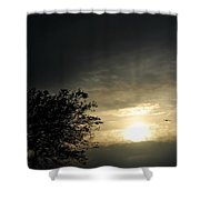 003 When Feeling Down  Pick Your Head Up To The Skies Series Shower Curtain