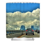 004 Grand Island Bridge Series  Shower Curtain
