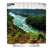 004 Niagara Gorge Trail Series  Shower Curtain