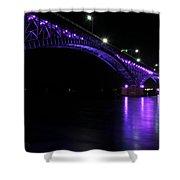 004 Peace Bridge Honoring Breast Cancer 2012 Series Shower Curtain