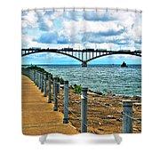 004 Stormy Skies Peace Bridge Series Shower Curtain