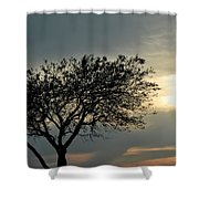 004 When Feeling Down  Pick Your Head Up To The Skies Series Shower Curtain