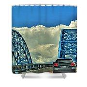 005 Grand Island Bridge Series  Shower Curtain