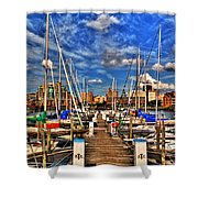 005 On A Summers Day  Erie Basin Marina Summer Series Shower Curtain