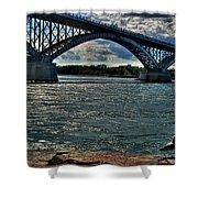 005 Peace Bridge Series II Beautiful Skies Shower Curtain