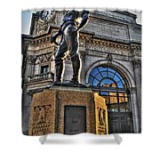 005 The Hiker Shower Curtain