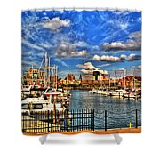 006 On A Summers Day  Erie Basin Marina Summer Series Shower Curtain