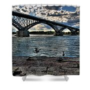 006 Peace Bridge Series II Beautiful Skies Shower Curtain