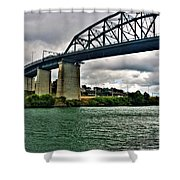 006 Stormy Skies Peace Bridge Series Shower Curtain