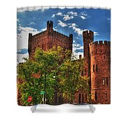 006 The 74th Regimental Armory In Buffalo New York Shower Curtain