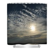 006 When Feeling Down  Pick Your Head Up To The Skies Series Shower Curtain