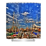 007 On A Summers Day  Erie Basin Marina Summer Series Shower Curtain