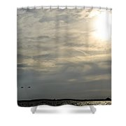007 When Feeling Down  Pick Your Head Up To The Skies Series Shower Curtain