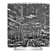 007bw On A Summers Day  Erie Basin Marina Summer Series Shower Curtain