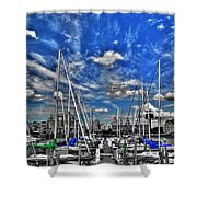 007sc On A Summers Day  Erie Basin Marina Summer Series Shower Curtain