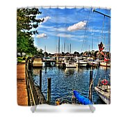 008 On A Summers Day  Erie Basin Marina Summer Series Shower Curtain