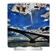008 Peace Bridge Series II Beautiful Skies Shower Curtain