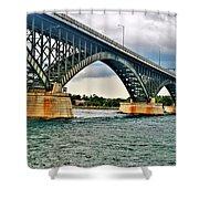 008 Stormy Skies Peace Bridge Series Shower Curtain