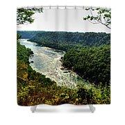 009 Niagara Gorge Trail Series  Shower Curtain