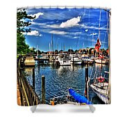 009 On A Summers Day  Erie Basin Marina Summer Series Shower Curtain