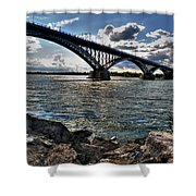 009  Peace Bridge Series II Beautiful Skies Shower Curtain