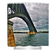 009 Stormy Skies Peace Bridge Series Shower Curtain