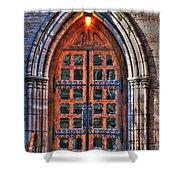 01 Church Doors Shower Curtain