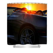 01 Ferrari Sunset Shower Curtain