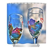 01 Love Is In The Air Shower Curtain