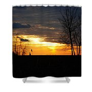 01 Sunset Shower Curtain