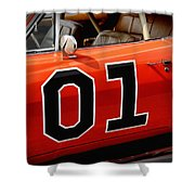 01 - The General Lee 1969 Dodge Charger Shower Curtain by Gordon Dean II