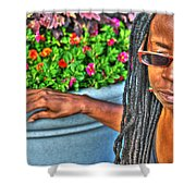 01 The Lioness Shower Curtain