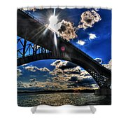 010  Peace Bridge Series II Beautiful Skies Shower Curtain