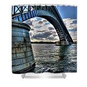 011  Peace Bridge Series II Beautiful Skies Shower Curtain
