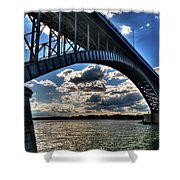 012  Peace Bridge Series II Beautiful Skies Shower Curtain