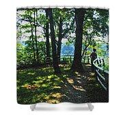 012a Niagara Gorge Trail Series  Shower Curtain