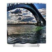 013 Peace Bridge Series II Beautiful Skies Shower Curtain