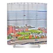 013 Series Of Buffalo Ny Via Birds Eye Erie Basin Marina Shower Curtain