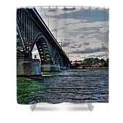014 Peace Bridge Series II Beautiful Skies Shower Curtain