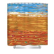 0145 Abstract Landscape Shower Curtain