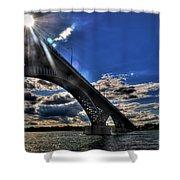 016 Peace Bridge Series II Beautiful Skies Shower Curtain