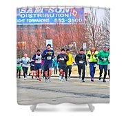 017 Shamrock Run Series Shower Curtain