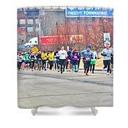 018 Shamrock Run Series Shower Curtain