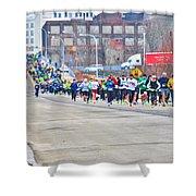019 Shamrock Run Series Shower Curtain