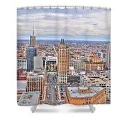02 Series Of Buffalo Ny Via Birds Eye East Side Shower Curtain