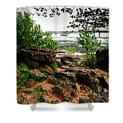 02 Three Sister Islands Shower Curtain
